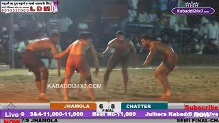 FINAL TOP MATCH CHATTER V/S JHAMOLA AT JULHERA {JIND}