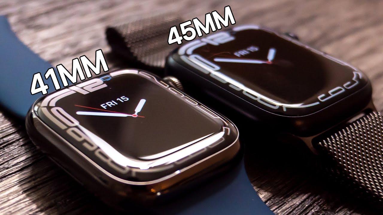 Download Apple Watch Series 7 (41mm vs 45mm) - Unboxing, Setup & Size Comparison!