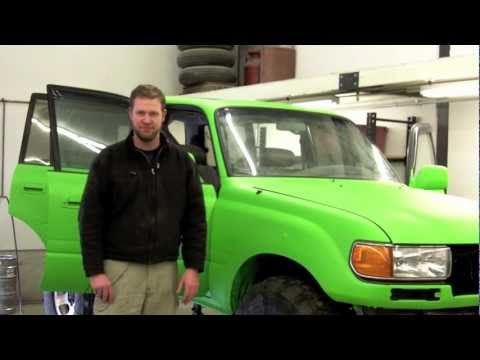 Predator Land Cruiser 6BT Install Part 7 Bed Liner - YouTube