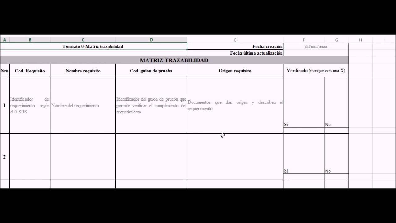 0 Matriz de trazabilidad - YouTube