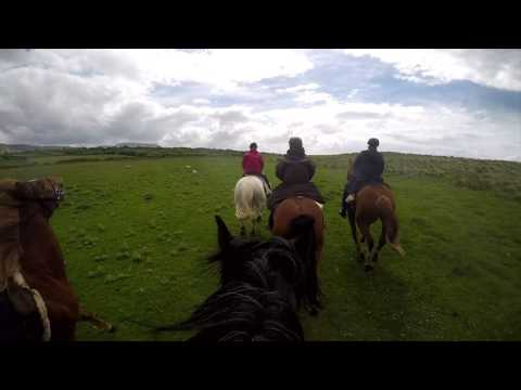 Riding by the Sea in Ireland 2017