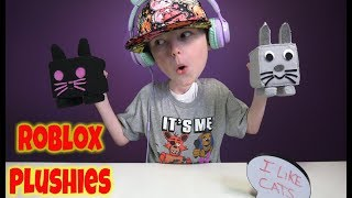 ROBLOX Pet Simulator Plushies Roblox Plushy Dark Matter Cat and Roblox Kitty