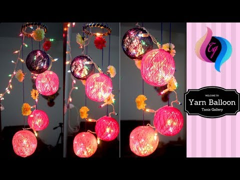 DIY - Yarn balls room decor - Garland decorating ideas - Christmas home decoration ideas