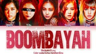Download lagu BLACKPINK (블랙핑크) ↱ BOOMBAYAH ↰ 5 members ver. (Karaoke) [Color coded lyrics Han|Rom|Eng]