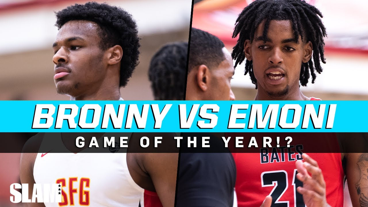 Download Bronny James Vs. Emoni Bates 🚨👀 Game of the Year at Peach Jam⁉️