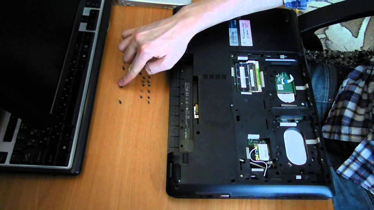 инструкция по разборке ноутбука asus a52f