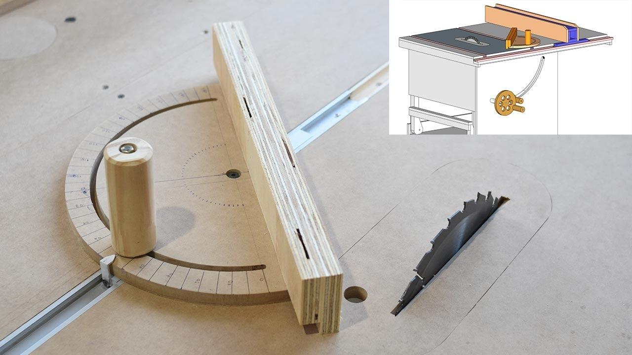 ➡️Cortes en ANGULO/ INGLETE - Accesorio sierra de mesa casera| MITER GAUGE TABLE SAW