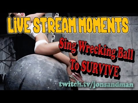 Life is Feudal- Live Stream Moments -Sing Wrecking Ball to SURVIVE!