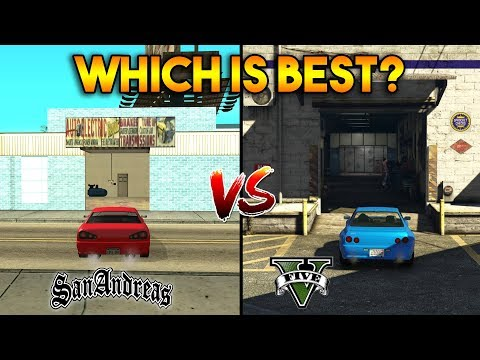 GTA 5 VS GTA SAN ANDREAS : SHOPS AND MORE
