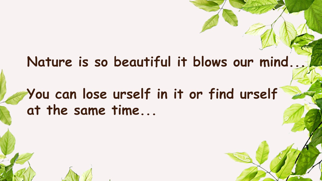 Nature Short Poems Youtube