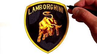 How to Draw the Lamborghini Logo(How to Draw the Lamborghini Emblem What you'll need for the Lamborghini Logo: Pencil Eraser Black Marker Yellow Marker Light Brown Marker Brown Marker ..., 2016-07-01T19:31:28.000Z)