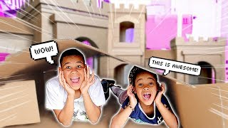 GIANT NEW FORT IN OUR HOUSE | FamousTubeKIDS