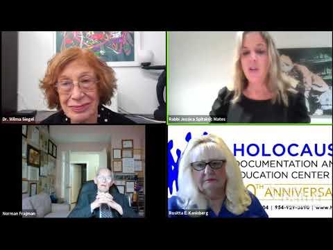 Yom HaShoah Shabbat Services full interview w/ Dr. Wilma Siegel, Norman Frajman & Rositta Kenigsberg
