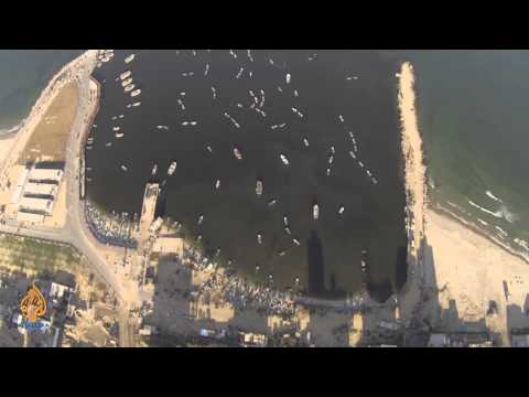 Palestine Remix - Drone Footage: Gaza Port