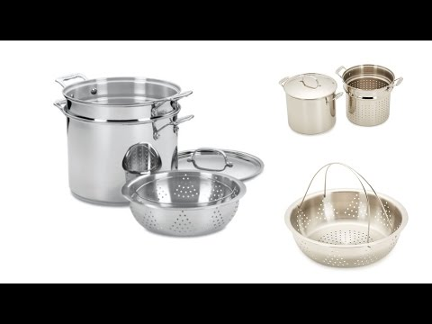 Cuisinart Chef's Classic Stainless Steel 12 Qt Pasta Pot, Stock Pot and Steamer Pot – All in One