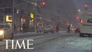 Nor'easter Snowstorm Avery Slams New York | TIME