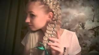 Четырехпрядная коса с одной лентой ☺