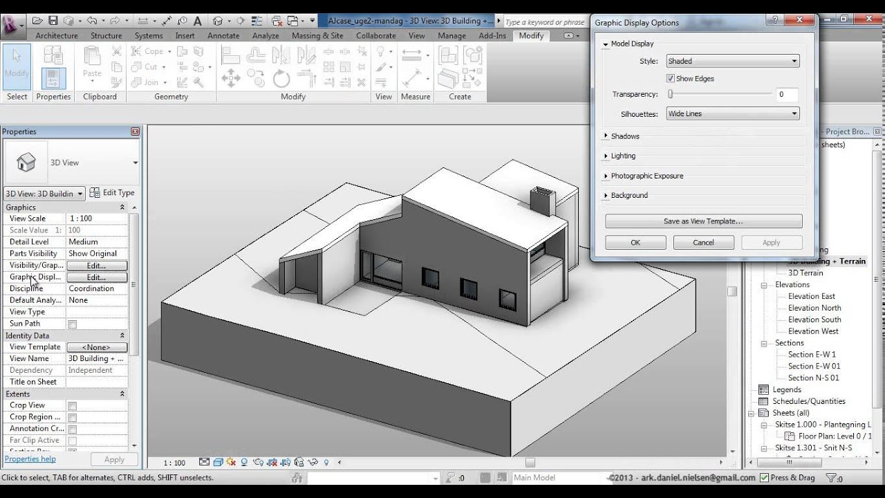 Revit Elevation Key Plan : Autodesk revit grafisk basis bearbejdning af views plan
