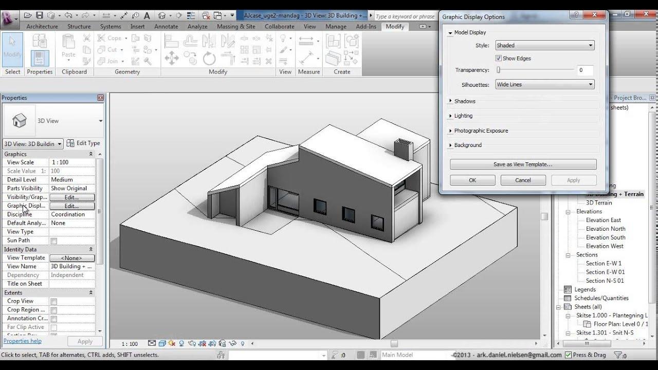 Elevation View Vs Plan View : Autodesk revit grafisk basis bearbejdning af views plan
