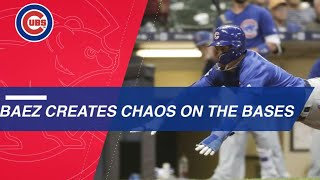 Baez plays catalyst with aggressive baserunning
