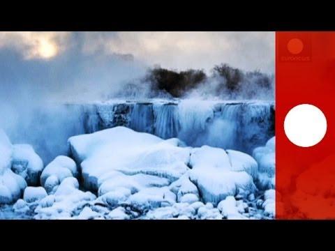 Cascades of ice: beautiful images of frozen Niagara falls
