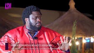 The Leader of Ajaguraga Movement, Bishop Kwabena Asiamoah having great conversation with KSM