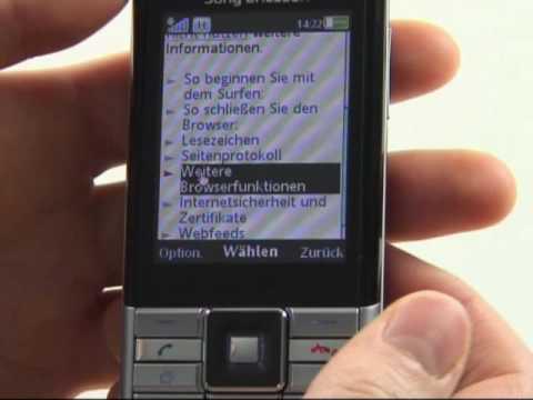 Sony-Ericsson Naite Test Bedienung