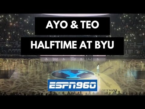 Ayo & Teo Full Halftime Performance at BYU Basketball Game
