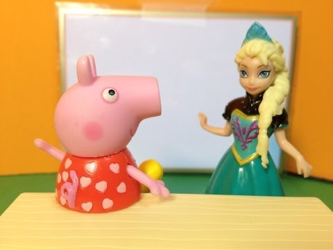 FROZEN Disney Elsa and Funny Pig have to go Potty a Disney and Nickelodeon Movie Parody