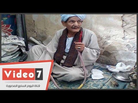 -الشيشة- فى إحتفالات الصوفية بمولد سيدى أحمد الفولى بالمنيا