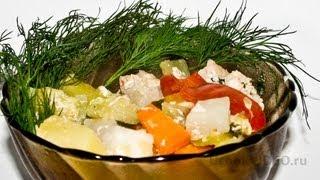 Курица с овощами в рукаве видео рецепт UcookVideo.ru