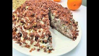 Торт Трухлявый Пень. Домашний простой рецепт!  Delicious homemade cake.