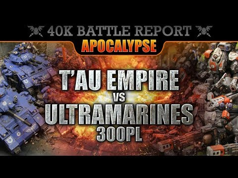 *new-rules*-t'au-empire-vs-space-marines-warhammer-40k-apocalypse-battle-report-hill-65!