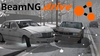 Lajwidło (#96) - Zimowe kolizje na śliskiej drodze | BeamNG.drive