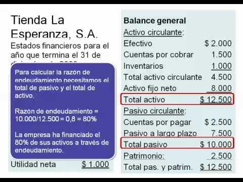 An lisis de balance indices y o ratios doovi for Analisis de balances