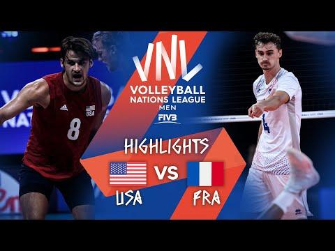 USA vs. FRA - Highlights Week 4 | Men's VNL 2021