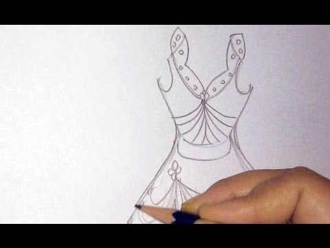 how-to-draw-a-dress-step-by-step-part-1