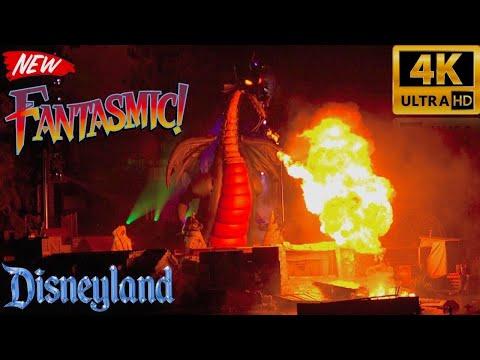 Fantasmic!! NEW Updated 2017 Debut Show | 4K | Disneyland Premiere First Showing | VIP Area