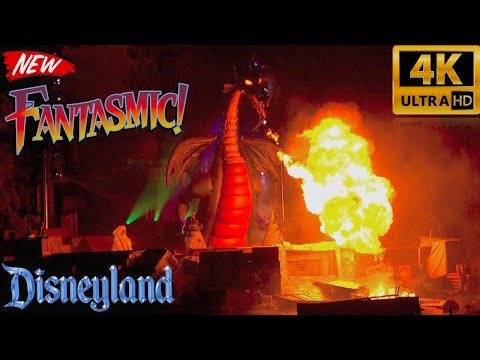 Fantasmic!! NEW Updated 2017 Debut Show | 4K | Disneyland Premiere First Showing | VIP Area