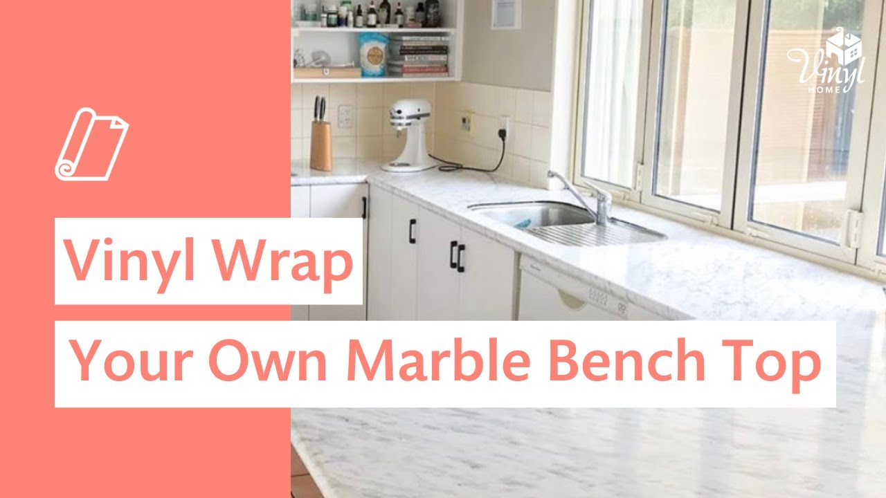 How To Vinyl Wrap Your Kitchen Benchtop Youtube