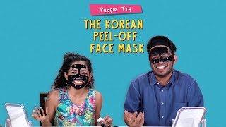People Try The Korean Peel-Off Face Mask | Ft. Aakansha & Kanishk | Ok Tested