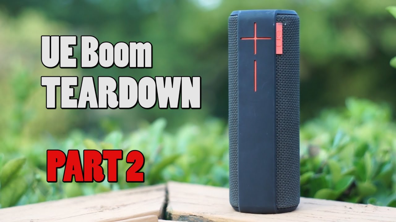 Ue boom teardown part 2 the fixer youtube for Housse ultimate ears boom 2