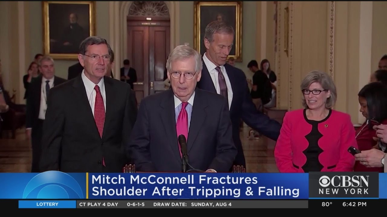 Mcconnell Injured In Fall Youtube