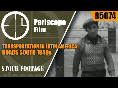 TRANSPORTATION IN LATIN AMERICA  ROADS SOUTH 1940s PAN AM AIRLINES 85074