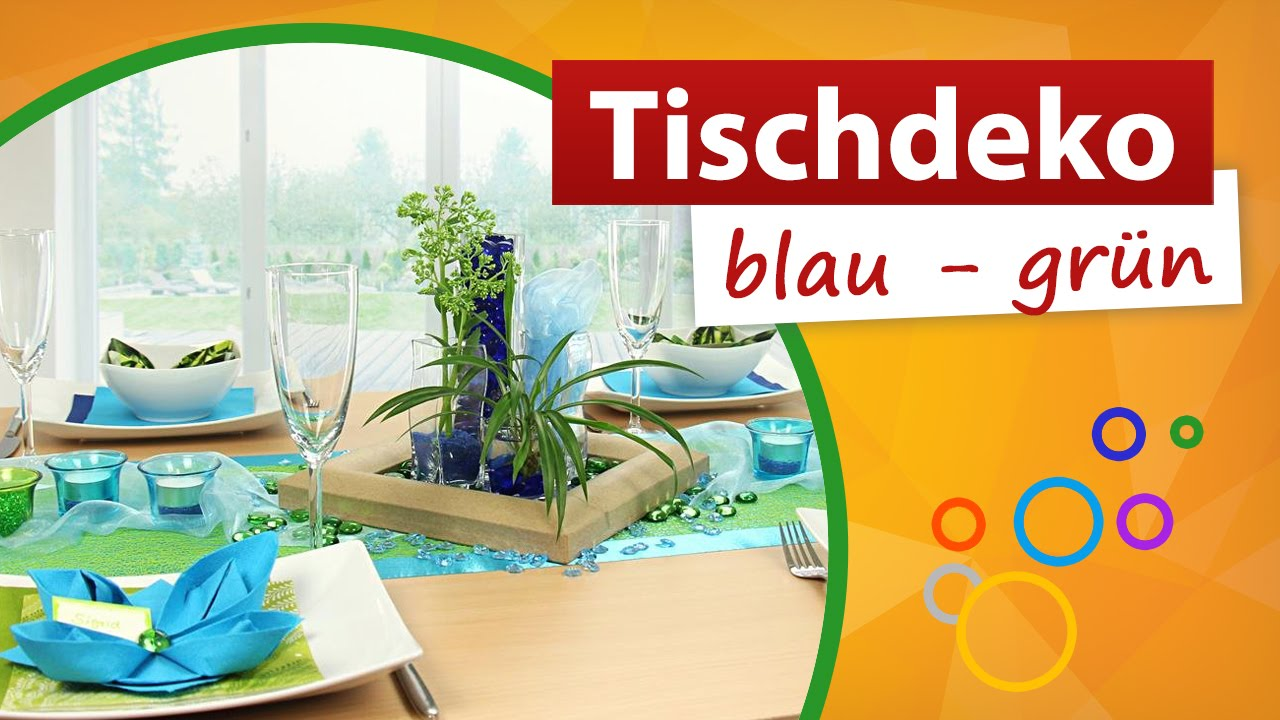 ☆ Tischdekoration Blau Grün ☆ ➀ Min Video   Trendmarkt24 Dekoration    YouTube