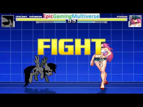 Poison VS Dreamy Rainbow On The Hardest Difficulty In A MUGEN Match / Battle / Fight