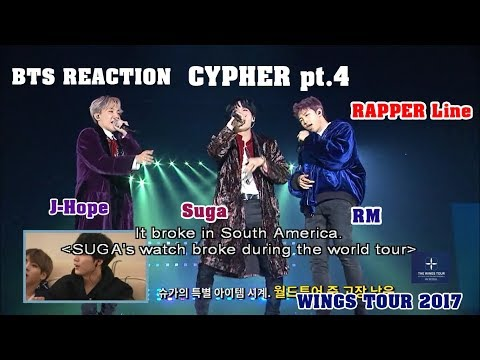 [ENG/VIET SUB] BTS Reaction CYPHER pt.4 Rapper line - WINGS TOUR 2017
