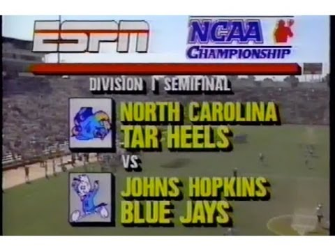 OLD SKOOL LAX  1989 Mens Lacrosse Division 1 semi final  UNC v Hopkins