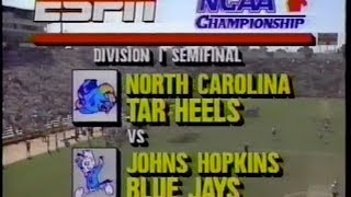OLD SKOOL LAX  1989 Mens Lacrosse Division 1 semi final  UNC v Hopkins