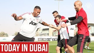 Manchester United  Dubai Training Camp Day One  Solskjaer Martial Rashford Lingard